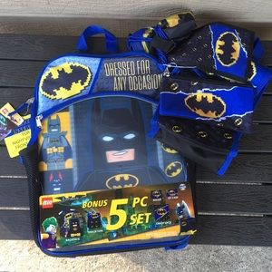 LEGO Batman Backpack 5 piece set NWT NICE!
